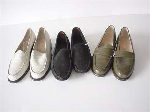 425: THREE PAIRS OF CHANEL AND TODS SHOES Including a p