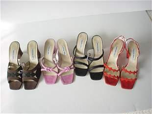 431: Lot of thirteen high-end summer heels and sandals