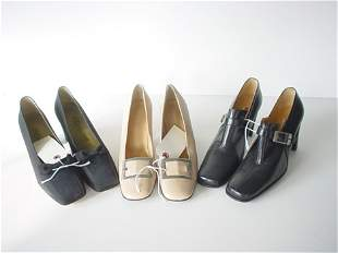 432: SEVEN PAIRS OF ASSORTED HIGH-END LOAFERS AND PUMPS