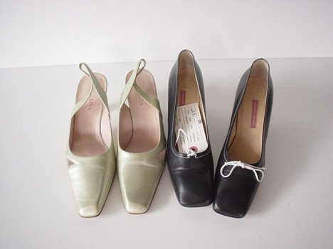 435: FOUR PAIRS OF ESCADA SHOES Consisting of: one pair