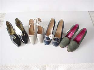 436: FIVE PAIRS OF SHOES FROM UNGARO, RICHARD TYLER, ET
