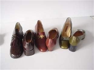 438: THREE PAIRS OF A. TESTONI SHOES Consisting of: one