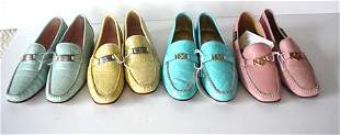 441: FIVE PAIRS OF ESCADA LOAFERS AND PUMPS Four simila