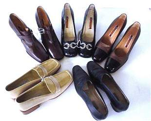 443: FOUR PAIRS OF A. TESTONI SHOES Consisting of: bron