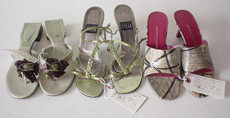 444: SIX PAIRS OF HIGH-END HEELS AND SANDALS Including