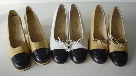 446: THREE PAIRS OF CHANEL HIGH HEEL PUMPS Two similar