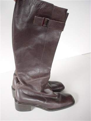 447: GUCCI HIGH LEATHER BOOTS