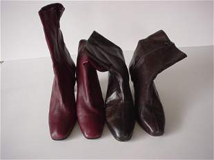 448: TWO PAIRS OF RENE MANCINI ANKLE BOOTS Consisting o