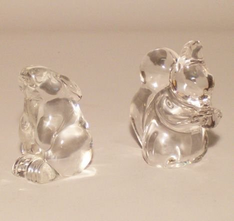 1001: Baccarat and Villeroy & Boch glass figures, , Two