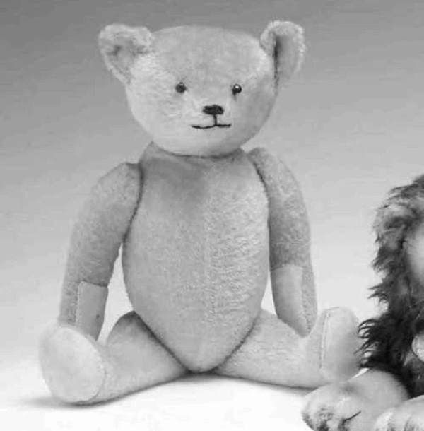 1021: Early stuffed animal attributed to Steiff, , Tan