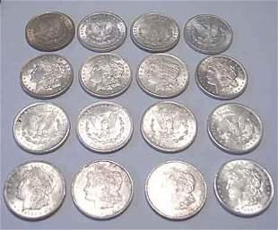 Sixteen 1921 Liberty Head U.S. silver dollars, ,