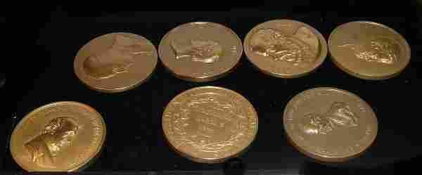 1039: Seven commemorative medals, , James Buchanan, Jam