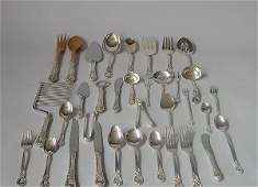 1380: Assembled Art Nouveau sterling silver bureau garn