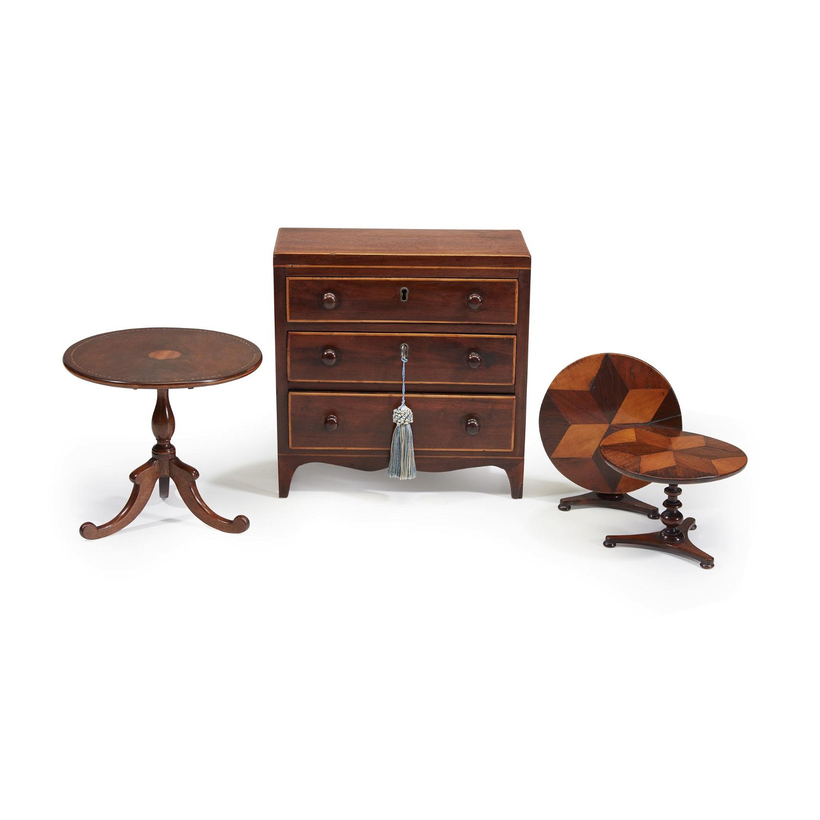 Group of miniature furniture items, 19th century