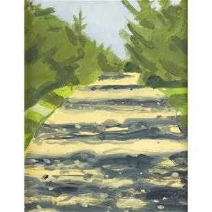 Alex Katz (American, born 1927), Yellow Road