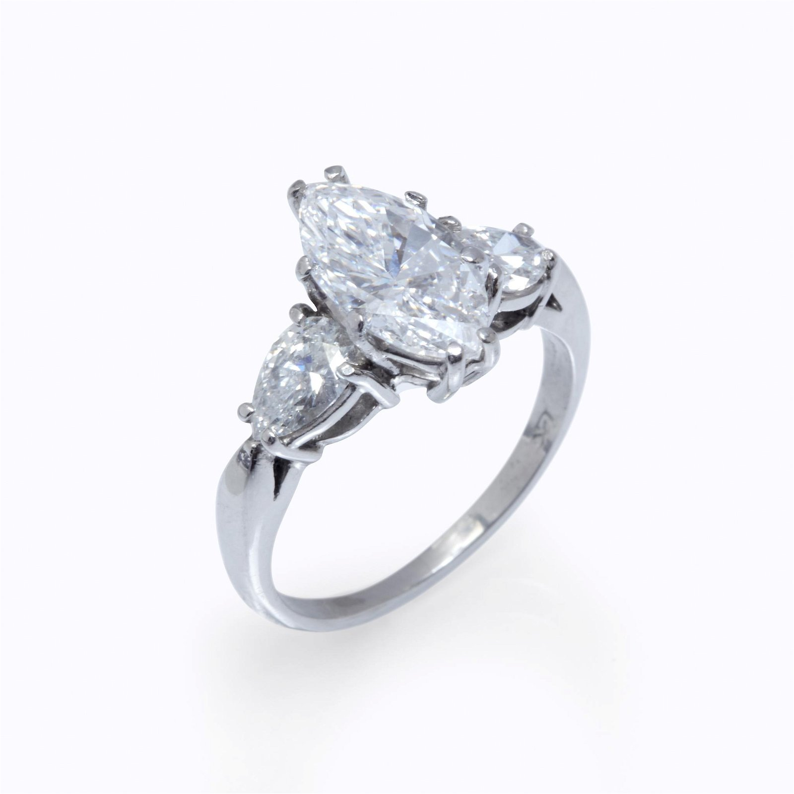A diamond and platinum ring,