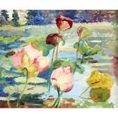 Jane Peterson (American, 1876–1965), , Water Lilies
