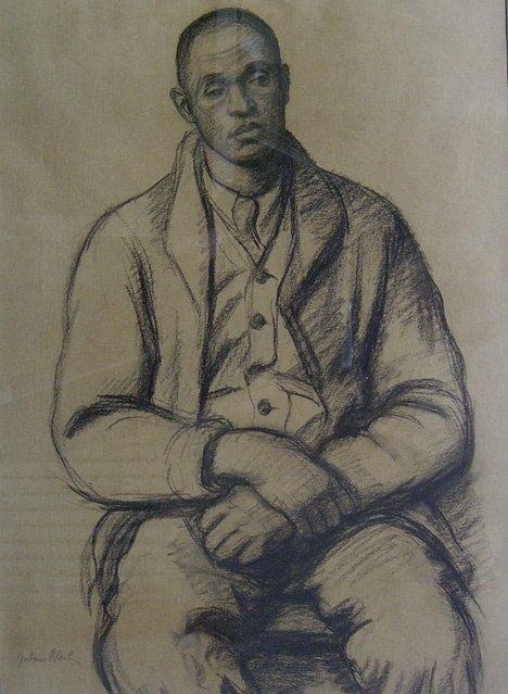 3002: JULIUS BLOCH (american 1888-1966) SEATED AFRICAN