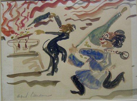 3011: ALFRED BENDINER (american 1899-1964) CREPES SUSET