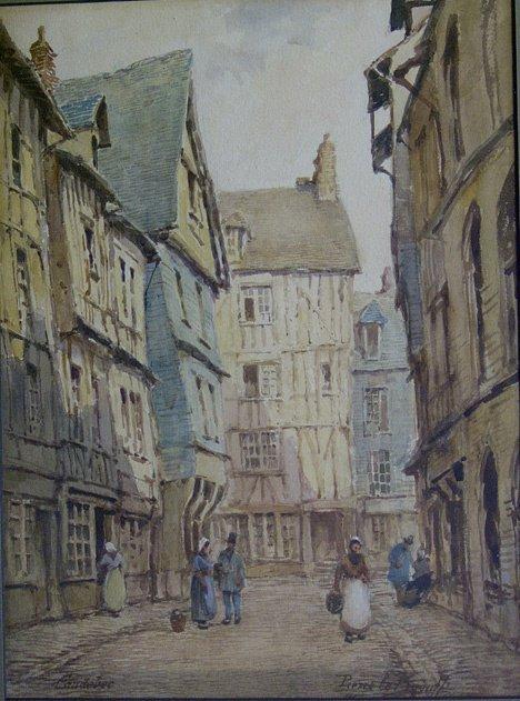 "3013: PIERRE LE BOEUFF (french 19th century) CAUDEBET"""