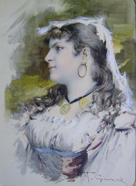3017: T. GIOVANELLI (italian 19th-20th century) PORTRAI