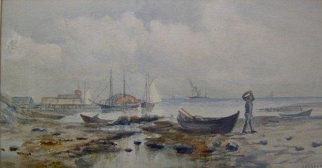 3021: OTIS S. WEBER (american 19th century) FISHERMEN A