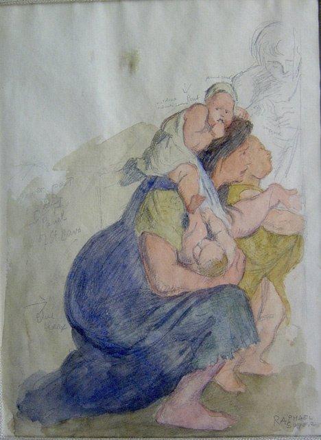 3023: RAPHAEL SOYER (american 1899-1987) STUDY FOR MOTH
