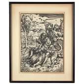 Albrecht Dürer (German, 1471-1528), , Samson Fighting
