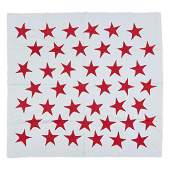 """Two appliqued cotton quilts, """"Great Star"""" quilt from"""