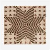 Star of Bethlehem pieced cotton quilt Ohio circa