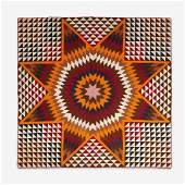 Fine Bethlehem Star pattern pieced quilt early 20th