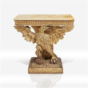 A George II giltwood eagle-form console in the manner