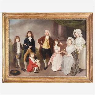 Joseph Wright (1756-1793), Portrait of a Family: Likely