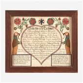 A Berks County Fraktur, Birth and Baptismal Certificate