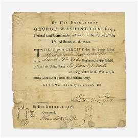 George Washington (1789-97), Signed Military Discharge
