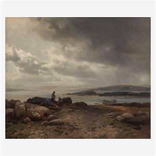 Hermann Herzog (American/German, 1832–1932), , Coast of