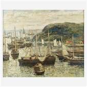 Paul Bernard King (American, 1867–1947), , Harbor Scene