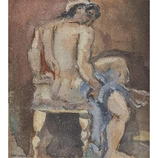 Max Weber (American, 1881-1961), , Red-Haired Nude;