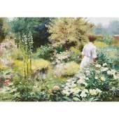 Gregory Frank Harris (American, B. 1953), , Lush Garden