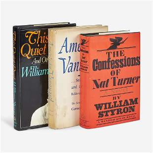 [Literature] Styron, William, Group of 3 Signed First