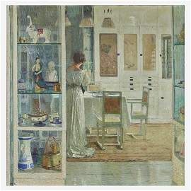 Carl Moll (Austrian, 1861–1945), , Weißes Interieur