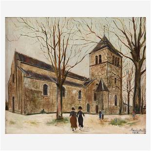 Maurice Utrillo (French, 1883–1955), , Église Notre