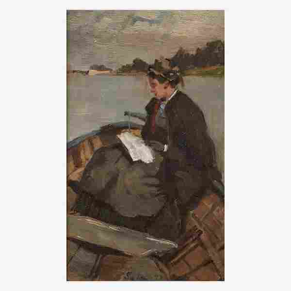 French School (19th Century), , Woman in a Boat