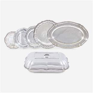 A Group of Six Continental Silver Dishes, Various