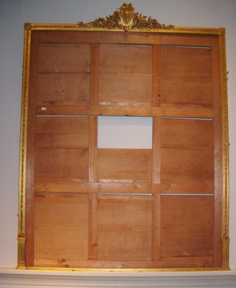 14: LARGE CARVED GILTWOOD MIRROR FRAME Late 19th c. The
