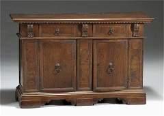 27: Italian walnut & inlaid side cabinet, 17th c., The