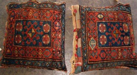 531: Pair Kurdish Cushions, northwest Persia, ca. 1st q