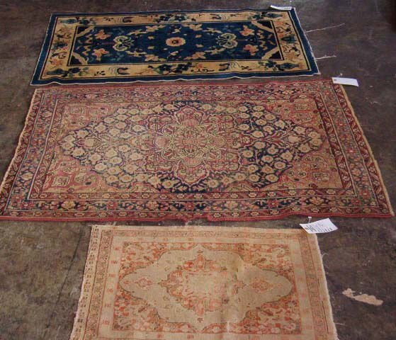534: Three rugs, , Chinese rug, c. 1900, 4.4 x 2.7 ft.,