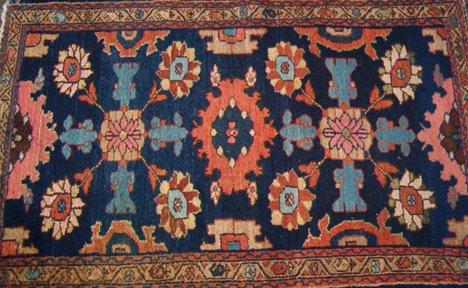 536: Three Rugs - Early 20th c. - Hamadan: 4 ft. 1 in.
