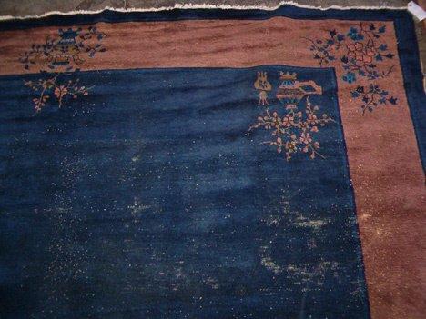 542: Chinese carpet, c. 1900,